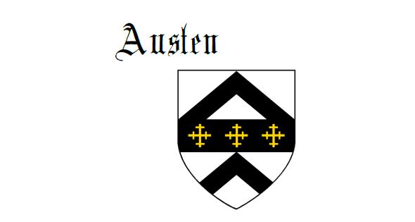 Fess between two chevrons Austen