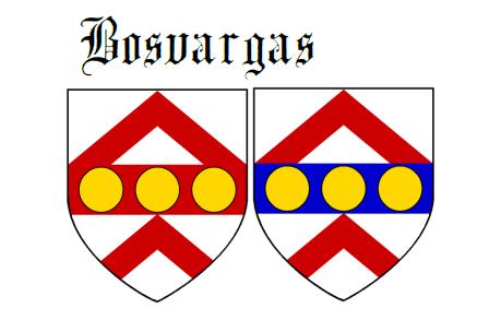 Fess between two chevrons Bosvargas