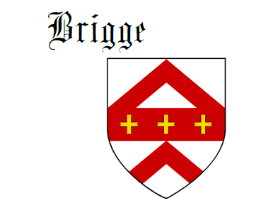 Fess between two chevrons Brigge