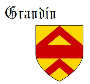 Fess between two chevrons Grandin