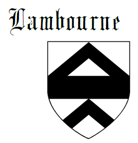 Fess between two chevrons Lambourne