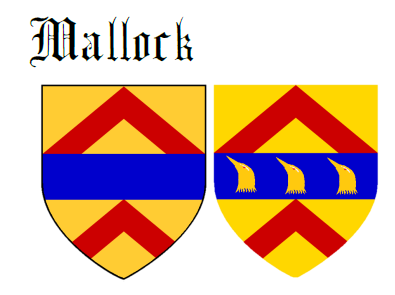 Fess between two chevrons Mallock