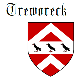 Fess between two chevrons Treworeck