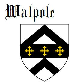 Fess between two chevrons Walpole